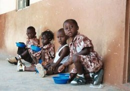 Children in Wellingara Gambia